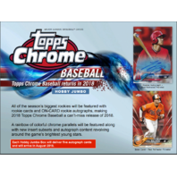 2018 Topps Chrome Baseball HTA Jumbo Hobby 12 Pack Box (Factory Sealed)