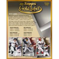 2018 Topps Gold Label Baseball Hobby Box (Sealed)