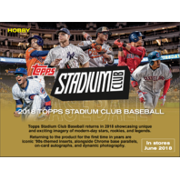2018 Topps Stadium Club Baseball Hobby 16 Pack Box (Factory Sealed)