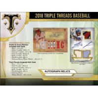 2018 Topps Triple Threads Baseball Hobby MINI BOX (Pack) (Sealed)(Random)