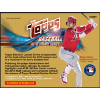 2018 Topps Update Series Baseball Hobby 10 Card PACK (Sealed) Release 10/22