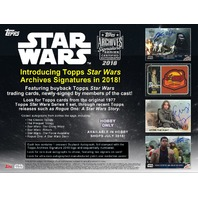2018 Topps Star Wars Archives Signature Series Hobby Box (Sealed)