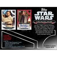 2018 Topps Star Wars Galactic Files Hobby 8 Card PACK (Sealed)