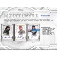 2018 Topps Star Wars Masterwork Trading Cards Hobby Mini-Box/Pack (Sealed)