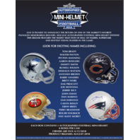 2018 Leaf Autographed Mini-Helmet Football Box (Sealed)