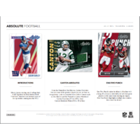2018 Panini Absolute Football 3 Mini-Box/Pack Hobby Box (Sealed)