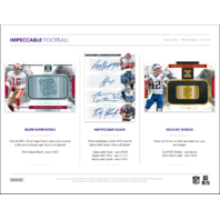 2018 Panini Impeccable Football Hobby 3 Box Case (Sealed)