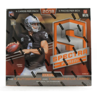 2018 Panini Spectra Football Hobby 4 Pack BOX (Sealed)