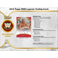 2018 Topps Legends of the WWE Wrestling Hobby MASTER BOX (Factory Sealed)