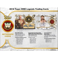 2018 Topps Legends of the WWE Wrestling Hobby MINI BOX (Factory Sealed)(6 Packs)