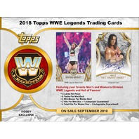 2018 Topps Legends of the WWE Wrestling Hobby 8 Box Case (Factory Sealed)