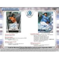 2019 Bowman Chrome Baseball Hobby MINI BOX (Factory Sealed)(6 Packs)