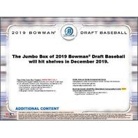 2019 Bowman Draft Picks & Prospects Baseball Jumbo 12 Pack BOX (Sealed)(Random)