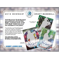 2019 Bowman Draft Picks & Prospects Baseball Jumbo 12 Pack BOX (Sealed)(Random)
