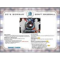 2019 Bowman Draft Picks Prospects Baseball HTA Jumbo Hobby 8 Box CASE (Sealed)