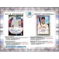 (3)Thee 2019 Bowman Draft Picks & Prospects Baseball Jumbo 32 Card PACK (Sealed)