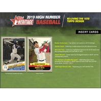 2019 Topps Heritage High Number Baseball Hobby 9 Card PACK (Sealed)(Random)