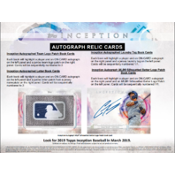 "2019 Topps Inception Baseball Hobby 7 Card ""Pack/Box"" (Sealed)"