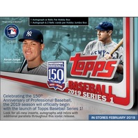 2019 Topps Series 1 Baseball Hobby HTA Jumbo 6 Box CASE +12 Silver Packs Sealed