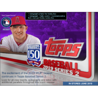 2019 Topps Series 2 Baseball Hobby HTA Jumbo BOX plus 2 Silver Packs (Sealed)