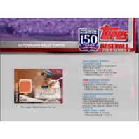 2019 Topps Series 2 Baseball Hobby HTA Jumbo 6 Box CASE +12 Silver Packs Sealed