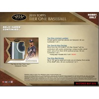 2019 Topps Tier One Baseball Hobby Pack/Box (3 Cards)(Factory Sealed)