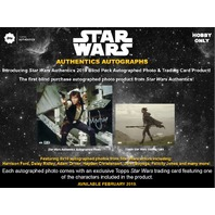 2019 Topps Star Wars Authentics Autographed Photo & Trading Card Box (Sealed)