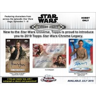 2019 Topps Star Wars Chrome Legacy Hobby Master Box (Sealed)