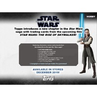 2019 Topps Star Wars Chrome Legacy Hobby Inner Mini Box (Sealed)(6 Packs)