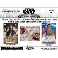 2019 Topps Star Wars Chrome Legacy Hobby Inner Mini Box (Sealed)(6 Packs)