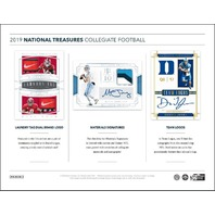 2019 Panini NT National Treasures Collegiate Football Hobby 4 Box CASE (Sealed)