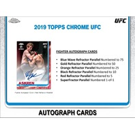 (3)Three 2019 Topps Chrome UFC Hobby 4 Card PACK (Factory Sealed)(Random) MMA
