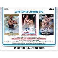 2019 Topps Chrome UFC Hobby 4 Card PACK (Factory Sealed)(Random) MMA