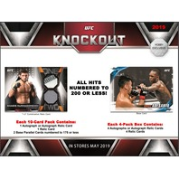 2019 Topps UFC Knockout Hobby 4 Pack Box (Factory Sealed)(8 Hits)
