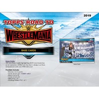 2019 Topps WWE Road To Wrestlemania 8 Hobby Box Case (Sealed)
