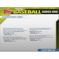 2020 Topps Series 1 Baseball Hobby Jumbo HTA 6 Box CASE (Factory Sealed)