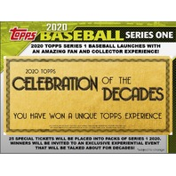 2020 Topps Series 1 Baseball Hobby Jumbo HTA 6 Box CASE (Factory Sealed)