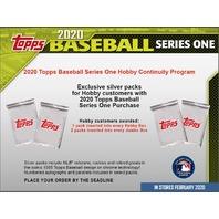 (3)Three 2020 Topps Series 1 Baseball Hobby 14 Card PACK (Factory Sealed)