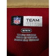 NFL Team Apparel San Francisco 49ers 1/4 Zip Fleece Lined Pullover Jacket Sz M