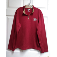 NFL Team Apparel San Francisco 49ers 1/4 Zip Fleece Lined Pullover Jacket Sz M