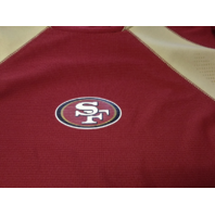 NFL San Francisco 49ers Red & Gold Long Sleeve Mesh Shirt, Size L Large Football