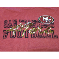 NFL Team Apparel Womens San Francisco 49ers Red/Dark Pink Shirt Gold Sequins L