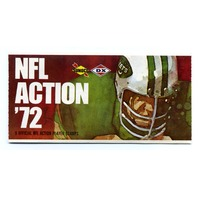 1972 Sunoco NFL Action 9-Stamp Pack Stickers Unused Bob Brown John Riggins
