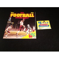 1983 Topps NFL Football Sticker Collection Album & 9 Sticker Packs