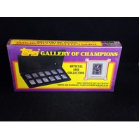 1988 Topps Gallery Of Champions Complete 12 Aluminum Replica Cards Sealed NOS