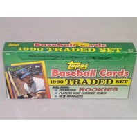 1990 Topps Baseball Traded Long Box Factory Set Sealed 132 Cards Cecil Fielder