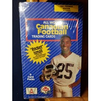 1991 ALL WORLD Canadian Football Factory Sealed Box 36 Packs ROCKET ISMAIL CFL