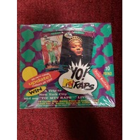 1991 Pro Set YO! MTV RAPS UPDATE Musicards Rap Music Trading Cards Box 36 packs