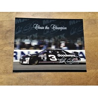1995 Maxx Chase the Champion #4 Dale Earnhardt's Car Jumbo 8x10 Card
