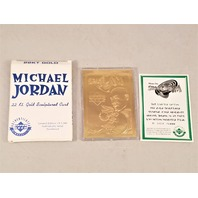 1996 Upper Deck Michael Jordan 22kt Gold Space Jam Card /5000 w/ Box & COA